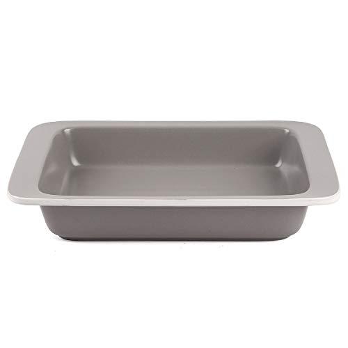 FE Baking Dish, Lasagna Pan, Ceramic Baking Pan 13x9 Oven Safe, Rectangular Bakeware with Handles, Big volume for Dinner, Banquet and Party