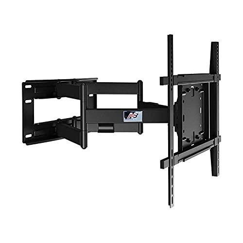 Soporte universal para TV de sobremesa Soporte giratorio inclinable para montaje en pared de TV articulado de movimiento completo Se adapta a pantallas LCD LED HD 4K de 50 '-90', capacidad de peso de