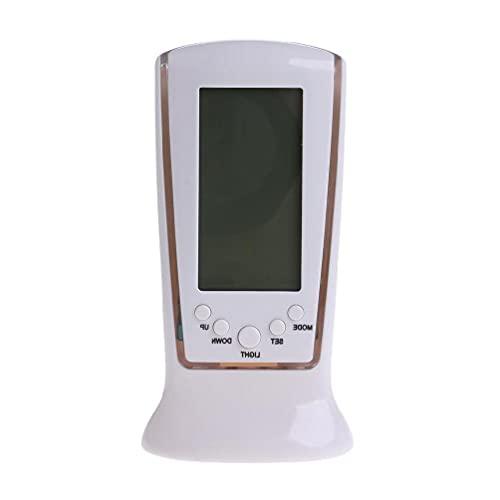 Reloj despertador LCD digital Calendario Termómetro Luz de fondo Proyector esencial para el hogar Reloj despertador para dormitorio