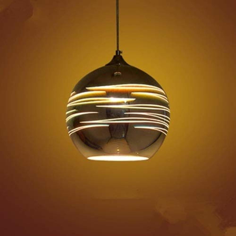 Qyyru Kreative Glas Pendelleuchte, 3D Bunte Feuerwerk kronleuchter Licht Moderne Neuheit Ball Hngen lampe Passend für Loft Home Office Restaurant Esszimmer Garten Suspension (25 CM)