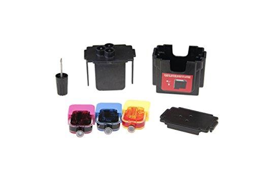 Kit DE FÁCIL Recarga para Cartuchos de Tinta HP 304, 304 XL Negro y Color, Tinta Incluye Clip y Accesorios