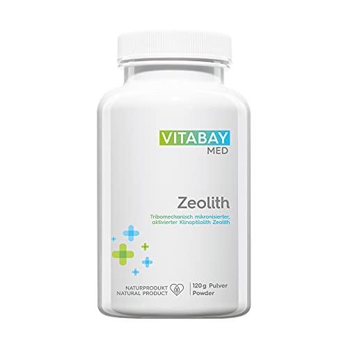 Vitabay Zeolith Pulver (120 g) • Ultrafein • Bis zu 95% Klinoptilith • Tribomechanisch mikronisiert und aktiviert • Pharmaqualität