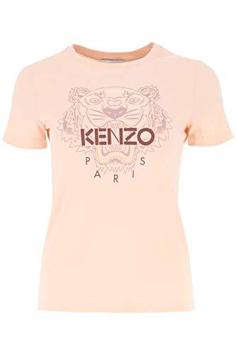Camiseta de Mujer Rosa con Estampado de Kenzo Talle S