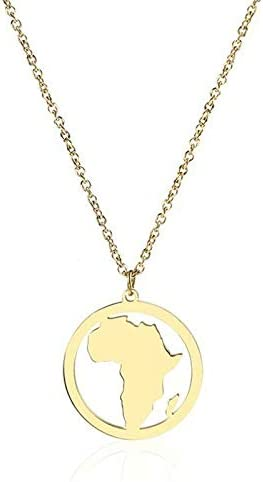Gold Africa Necklace The Motherland South Africa Map Pendant Necklace African Accessory Afrocentric Jewelry
