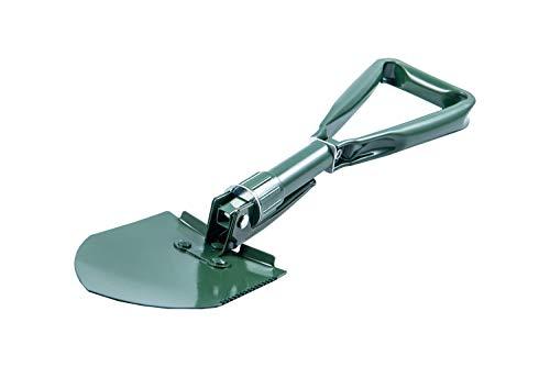Klappspaten für den Garten und Outdoor, leichte Klappschaufel aus Stahl und Aluminium, Faltspaten mit integrierter Säge