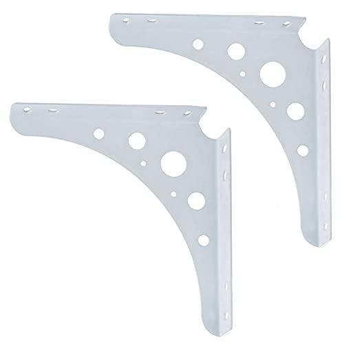ZBYL Soporte para estante de pared de metal, soporte de ángulo recto...