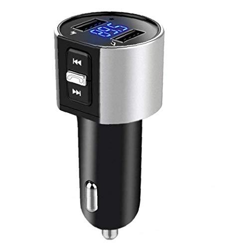 Gracy Bluetooth FM-Transmitter Funk-Kfz-Ladegerät mit LED-Screen-Display freihändigen Anrufe Dual USB Port Musik-Player, Autolade
