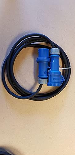 Cable alargador CEE azul 16 A H07RN-F 3 x 1,5 para caravana, a partir de 3 m Mennekes, longitud del cable: 40 m.