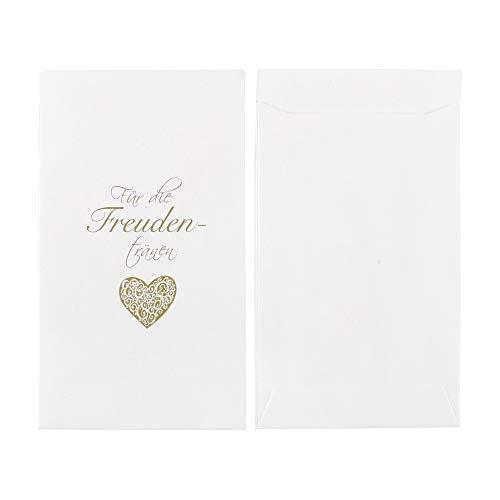 ewtshop® Freudentränen Taschentuchhalter, 100 Stück, weiß, Freudentränenkuverts für Hochzeiten, Geburtstage oder andere besondere Anlässe