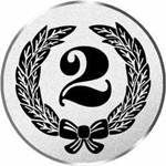 S.B.J - Sportland Pokal/Medaille embleem, motief cijfer 2, diameter 50 mm diameter