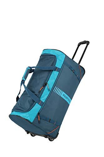 travelite 2-Rad Trolley Reisetasche Größe L, Gepäck Serie BASICS ACTIVE: Weichgepäck Reisetasche mit Rollen im frischen Design, 096282-22, 71 cm, 86 Liter, petrol/orange
