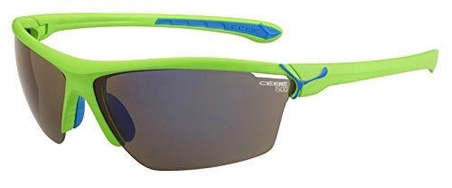 Cébé zonnebril Cinetik L, mat groen/grijs flashue/helder/geel, CBCINETIK12