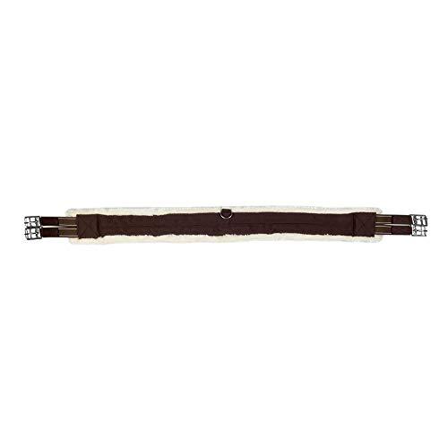 HKM Teddy 135 - Cincha para sillín, color marrón y crema