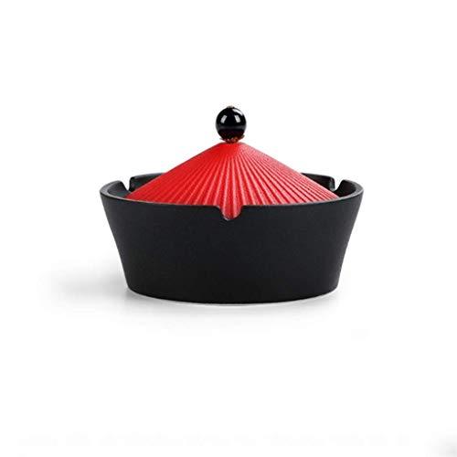 OH Posacenere in Ceramica Coperta Posacenere con Coperchi per Decorazione per Ufficio Posacenere Posacenere per Portacenere Antivento per Uso Esterno per Fumatori Regalo Accessori p