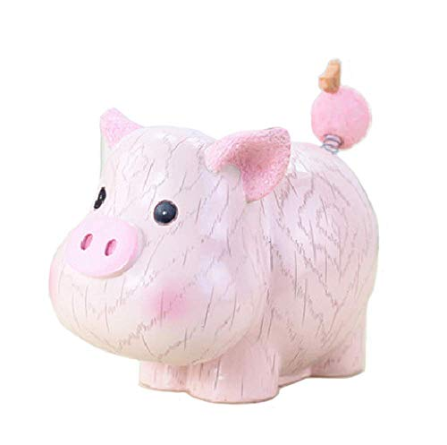 zoele Cute Cartoon Horse Resin Piggy Bank Coin Bank Safe Money Box Saving Bank Storage Box Best Christmas Birthday Gifts for Kids Boys Girls Home Decoration (B)