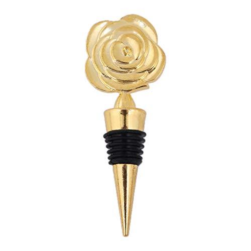 whbage Bouchons à Vin Élégant Rose Fleur Champagne Rouge Vin Bouteille Bouchon Vide Scellé Twist Valentine Faveurs De Mariage Cadeau