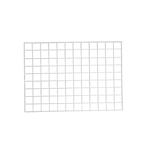 DierCosy Tools Foto Rejilla Panel de 35 cm de Acero Blanco DIY de la Pared del Estante Decorativo Arte Cuelgue Foto de la Pared Estante de exhibición de Tablero de Notas de Malla