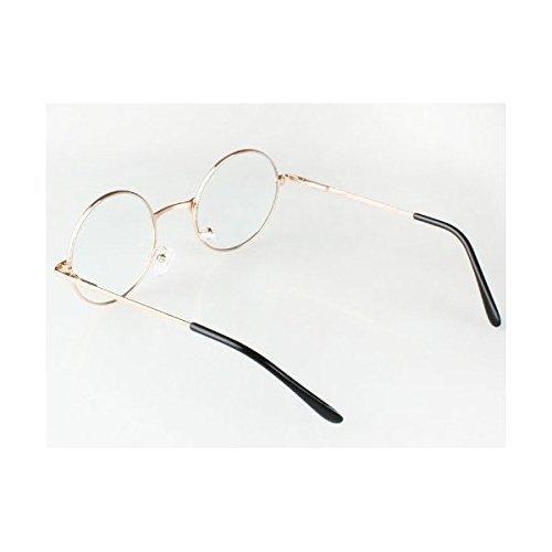 『伊達眼鏡 丸型 コスチューム用小物 ゴールド 男女共用 45x125x180mm』の1枚目の画像