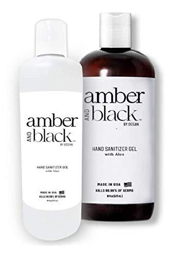 Amber and Black 70% Ethyl Alcohol Hand Sanitizer Gel, 16 fl....