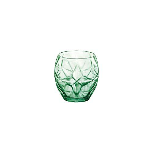 Bormioli Rocco Oriente - Juego de 6 vasos de agua, 382 ml, color verde frío