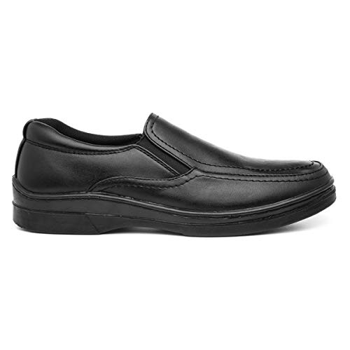 Hobos Mens Casual Easy Fasten Shoe in Black - Size 8 UK - Bl