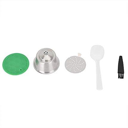 Fdit Cápsula de café recargable de acero inoxidable reutilizable compatible con accesorios Dolce Gusto