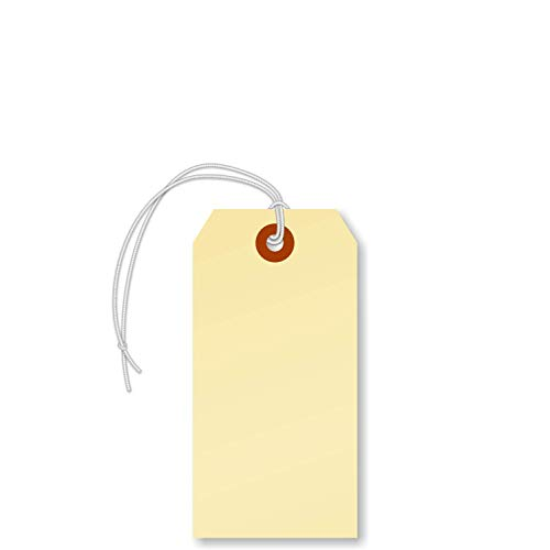 SmartSign Manila Shipping Tags with Elastic, Size #4 | 13pt Cardstock Tag, 4 1/4