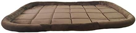 Mellifluous Cat and Dog Rectangular Pet Bed, Brown