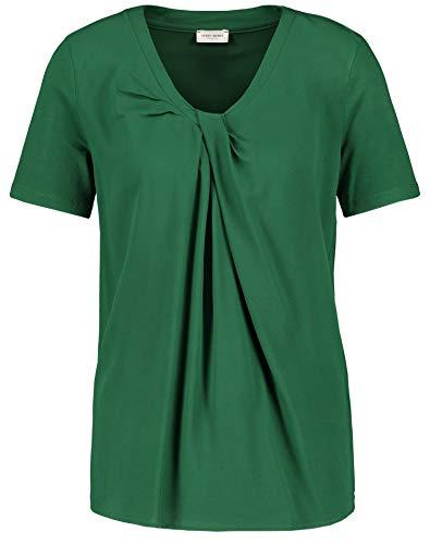 Gerry Weber Damen Shirt Mit Flechtdetail Leger Leaf 46