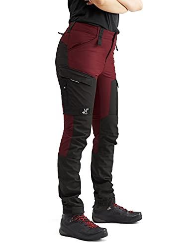 RevolutionRace Damen RVRC GP Pants, Hose zum Wandern und für viele Outdoor-Aktivitäten, Bison Blood, 38
