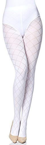 Merry Style Collant Opachi Donna MS 328 60 DEN (Bianco, S)