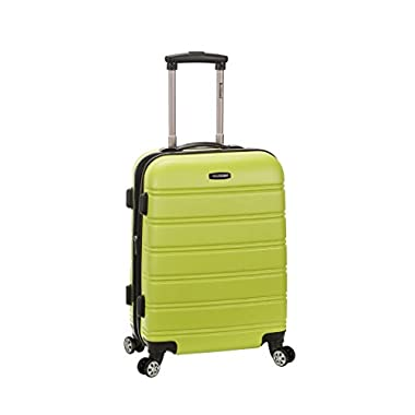 Rockland Melbourne 20 Inch Expandable Abs Carry On Luggage, Lime, One Size