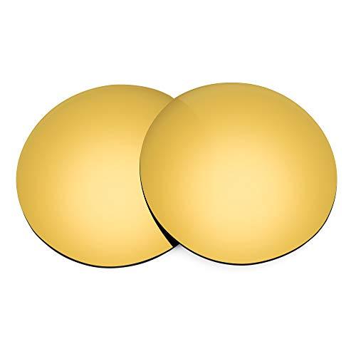 Revant Lentes de Repuesto Compatibles con Gafas de Sol Ray-Ban Clubmaster Oval RB3946 52mm, Polarizados, Elite Dorado MirrorShield