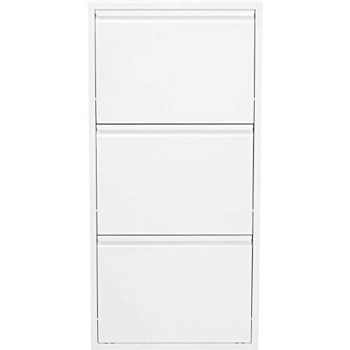 Kare Design Zapatero a 3 Solapas Carusa, Blanco, 103 x 50 x 14 cm, 49287