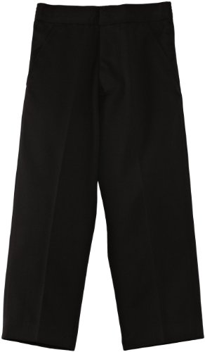 Blue Max Banner - Pantalon mixte enfant - Fulham Junior Flat Front, Noir, FR : 7 ans (Taille fabricant : W23INxL22IN)