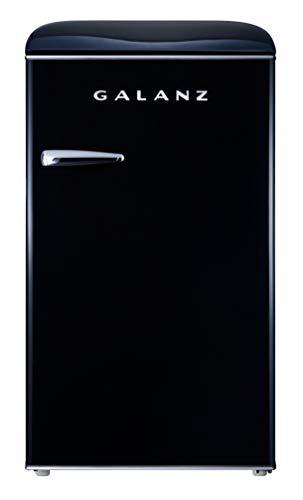 Galanz GLR35BKER Retro Refrigerator, 3.5 Cu Ft, Black