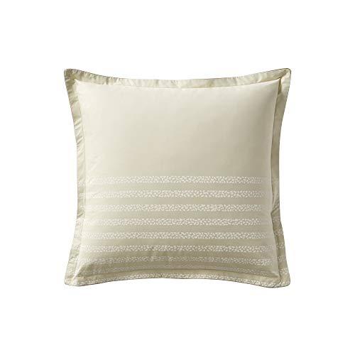 Essix - Taie d'oreiller Traverse Percale de Coton Sésame 65 x 65 cm
