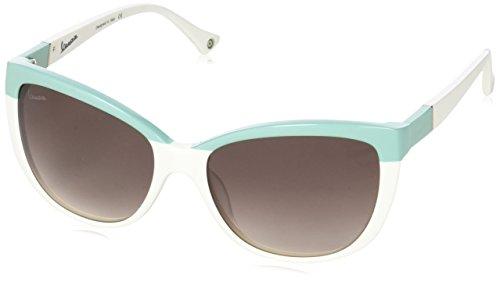 Vespa Damen Eye Sonnenbrille, Grün (Verde/Bianco), 57