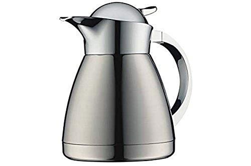 alfi Albergo TT, Thermoskanne Edelstahl mattiert 0,6l, mit TopTherm Edelstahleinsatz,0767.000.060, Isolierkanne hält 12 Stunden heiß, ideal als Kaffeekanne oder Teekanne, Kanne für 5 Tassen