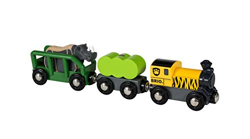 BRIO World Safari Rhino Train for Kids age 3 years and up. Compatible with all BRIO train sets