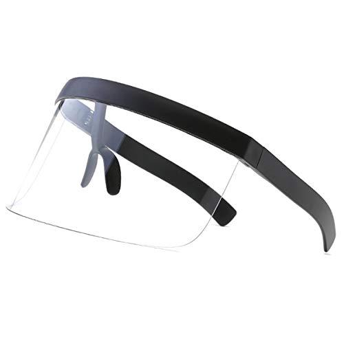 VORCOOL - Gafas de sol de gran tamaño futurista, protección solar, cortavientos, para hombres y mujeres, deportes al aire libre (transparentes)