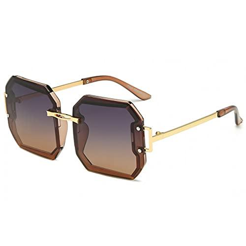 YUANCHENG Gafas de Sol cuadradas polarizadas para Mujer Gafas de conducción con Lente oceánica UV400
