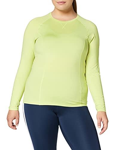 Marque Amazon - AURIQUE Top de Sport Femme, Vert (Lime Sherbert), 42, Label:L