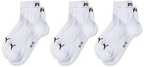 Puma - Quarter Plain 3P, Chaussettes de Sport - Mixte Adulte, Lot de 3, Blanc(White) ,35-38