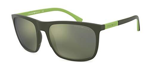 Emporio Armani 0EA4133 Gafas de sol, Green Rubber, 59 para Hombre