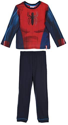 Pyjama long Spiderman costume déguisement 100% coton rouge - Rojo, 4 años