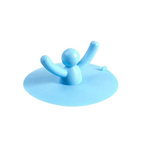 XIAOQI Tapón de drenaje de silicona con forma de persona para fregadero de ducha, bañera, alfombrilla de drenaje de baño