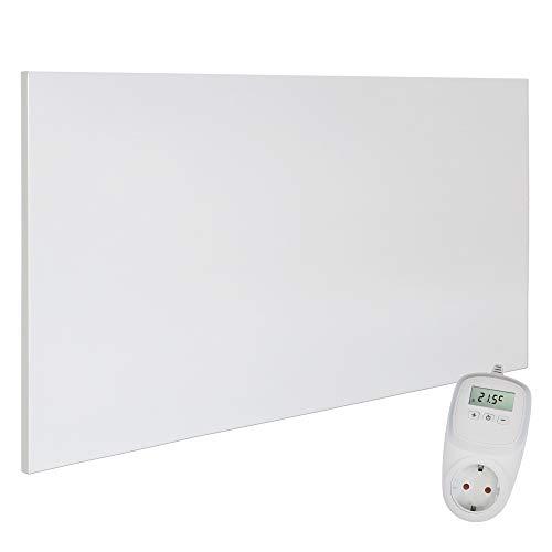 VIESTA H700 Pannello ad infrarossi per Riscaldamento Carbon Crystal (Tecnologia più recente) Ultrasottile, panneli radianti Bianco - 700 Watt Termostato TH10