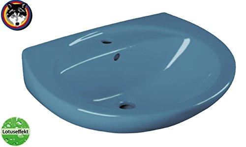 Cornat Farbklassiker Waschtisch 60 cm, Nostalgiefarbe: bermudablau, Lotusclean