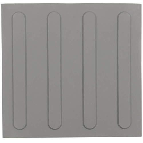 PrimeMatik - Baldosa podotáctil pavimento táctil de Ciegos invidentes de 25x25cm con Franjas Avance Gris 10-Pack